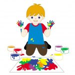 Kā izgatavot netoksiskas gleznošanas krāsas bērniem?