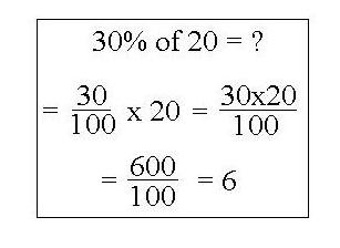 Procentu aprēķināšanas formula